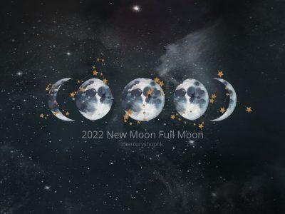 【2022 年新月。滿月。日食。月食】下半年香港月相時間表